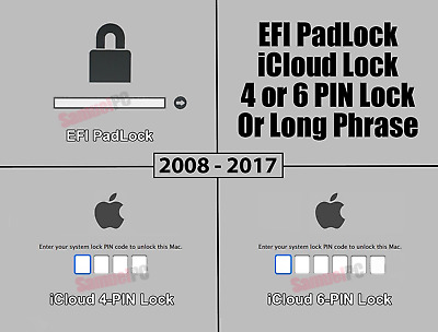 Apple Mac EFI - iCloud 4-6 PIN BIOS Password Removal Service 2008 - 2017