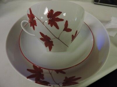 Mikasa Pure Red 3 Piece Place Setting  Plates - Cup -  A14