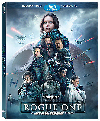 Rogue One A Star Wars Story Blu-rayDVD 2017 3-Disc Set comes with Slipcover