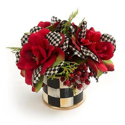 Authentic Mackenzie Childs    Courtly Check Rose Accent Bouquet NEW