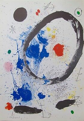 Joan Miro TWILIGHTS RING Facsimile Signed Limited Edition Lithograph Art