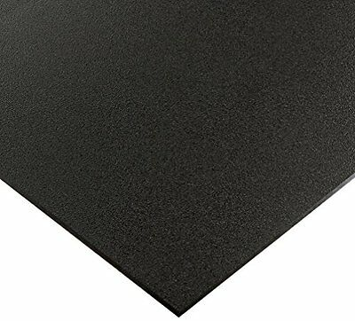 Black Marine Board HDPE Polyethylene Plastic Sheet 12 - 0-500 Thick Textured