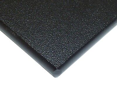 Black Marine Board HDPE Polyethylene Plastic Sheet 14 - 0-250 Thick Textured