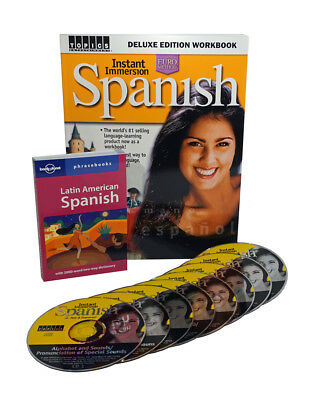 Learn to Speak SPANISH Language Deluxe 8 Audio CDs w Workbook and Phrasebook