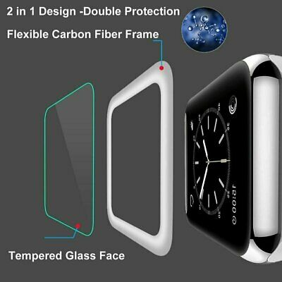 Apple Watch Series 4321 3D Full Tempered Glass Screen Protector 38424044mm
