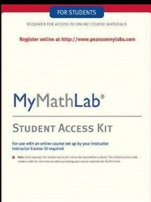 MyMathLab Student Access CODE Pearson NEW fast delivery READ DESCRIPTION