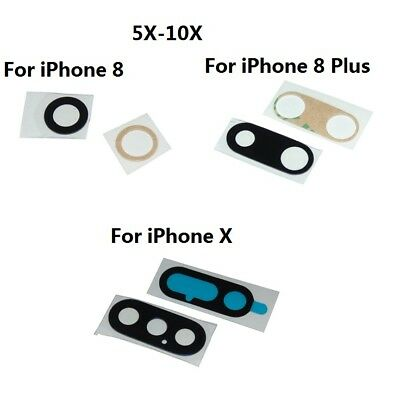 5x-10x Back Camera Lens Glass Cover Adhesive For iPhone 8  8 Plus iPhone X USA