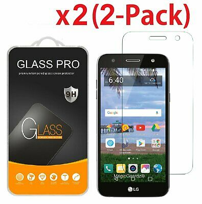 2-Pack Tempered Glass Screen Protector Guard for LG X Power 2  LG Fiesta LTE