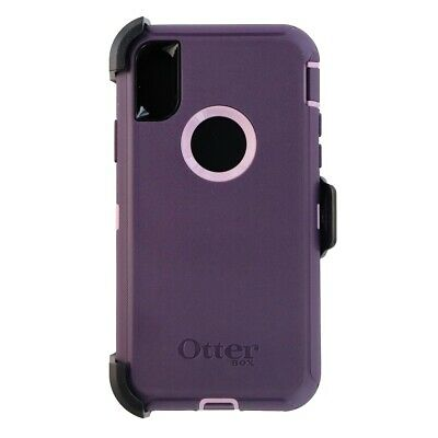 OtterBox Defender Series Case and Holster for Apple iPhone Xs X - Purple Nebula