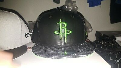 New Era NBA Houston Rockets Snapback Suede Lid Snapback Hat Cap- New with tags-