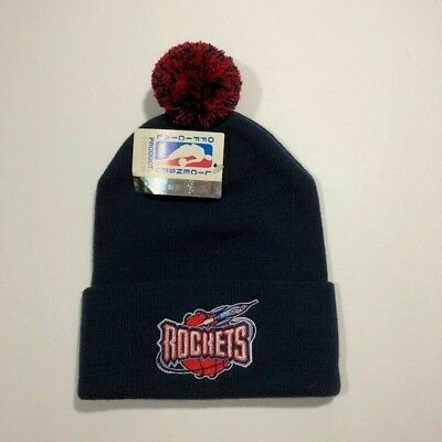 Houston Rockets NBA Vintage Pom Beanie Official Licensed Product OSFA NWT