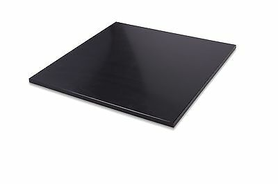 HDPE Black Plastic Polyethylene Sheets 1 Thick - You Pick The Size