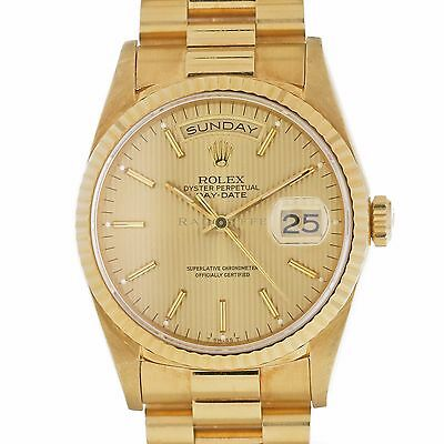 Rolex 18238 Day Date President 18kt Yellow Gold PRESIDENTIAL Swiss Automatic