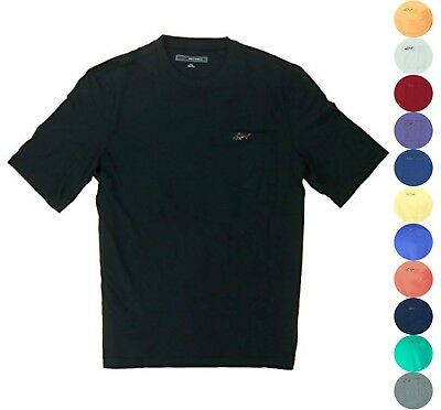 Greg Norman Mens Casual T-Shirt with Chest Pocket 17 Colors You Pick