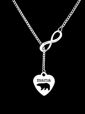 Mama Bear Necklace Gift Lariat Mom Mothers Day Animal Wife Jewelry