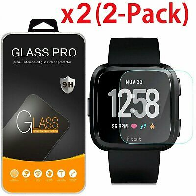 2-Pack Tempered Glass Screen Protector Guard Saver For Fitbit Versa - Versa Lite