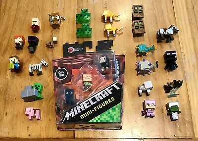 LOT OF MINECRAFT ACTION FIGURES MINI FIGURES NEW NETHERRACK SERIES 3