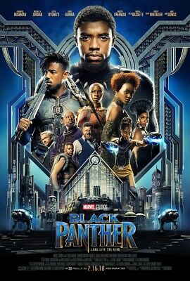 Black Panther DVD 2018 New Sealed Action Marvel Free Shipping