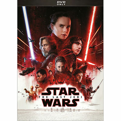 Star Wars Episode VIII - The Last Jedi DVD New Sealed Free Shipping
