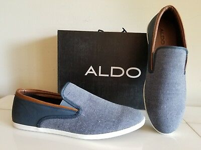 NEW ALDO Mens Casual SLIP ON Sneakers shoes Size 13- Color Navy Nice NWBox