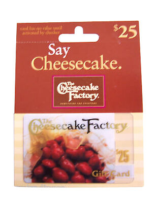 Cheesecake Factory Gift Cards 125-00