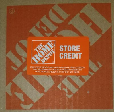 Home Depot store credit for 346 NO ID NEEDED