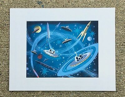 EL GATO GOMEZ RETRO SCI-FI FUTURISTIC OUTER SPACE FLYING SAUCER LIMITED EDITION
