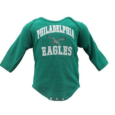 Philadelphia Eagles Official NFL Apparel Baby Infant Size Creeper Bodysuit New
