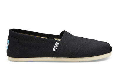 New Authentic TOMS BLACK CANVAS WOMENS CLASSICS Shoes US Size 6 - 8-5