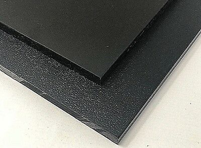 Black HDPE Polyethylene Plastic Sheet 12 - 0-500 Thick One Side Smooth