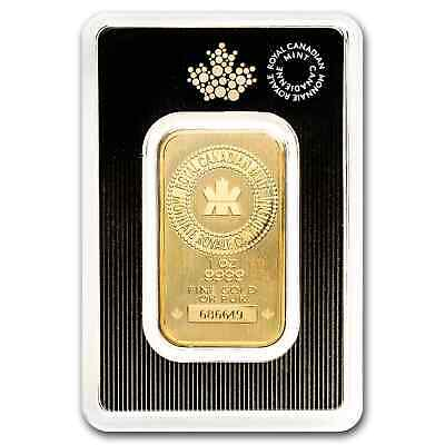 1 oz Gold Bar - Royal Canadian Mint New Style In Assay