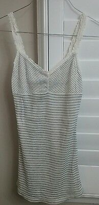 Wet Seal Womens Juniors S Small Gray Sexy Stretch Tank Top Cami Shirt NWT