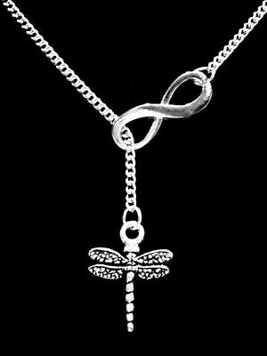 Dragonfly Necklace Lariat Mothers Day Gift Animal Insect Daughter Gift Jewelry