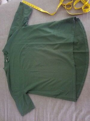 Zara Mock Turtle Neck Shirt Size LARGE Green