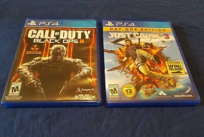Call of Duty Black Ops 3 and Just Cause 3 for Ps4