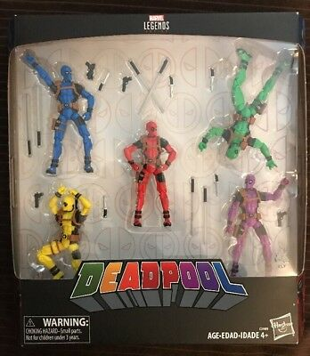 Marvel Legends Deadpool's Rainbow Squad 5-Pack 3-75 Inch - FREE Shipping