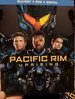 Pacific Rim Uprising Blu-ray -DVD - Digital 2018 NEW SEALED with slipcover
