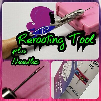 Doll Rerooting Tool kit -4 Needles for Rerooting Dolls Rehairing My Little Pony