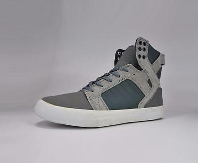 Supra Shoes Mens Skytop Grey White Sneakers S18162-GRY 1150