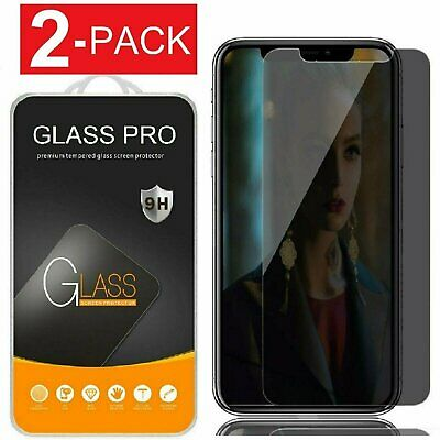 2-Pack iPhone X XS XR XS Max Privacy Anti-Spy Tempered Glass Screen Protector