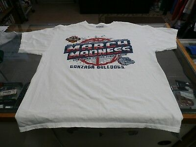 Gonzaga Bulldogs 2017 March Madness Mens Short Sleeve Shirt Large White 24138
