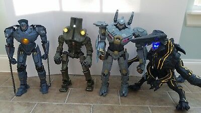 Pacific Rim 18 Inch Action Figures Lot Striker Knifehead Gipsy Danger Cherno