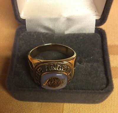 Los Angeles LAKERS NBA Ring Pick Size Balfour Gold Color Lakers Jewelry Special