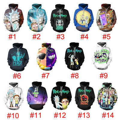 Rick and Morty Anime 3D Print Men Women Pullover Hoodie Sweatshirt Jumper Tops