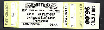 SEC Basketball Tournament Session 2 March 6 1987 Ticket Stub