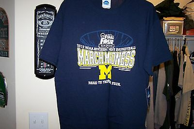 michigan march madness shirt new with tags  MED- 2012