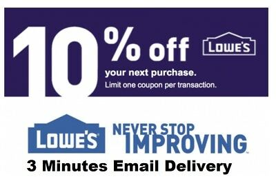 Two 2x Lowes 10 OFF2Coupons-InStore and Online-Fastest Delivery-