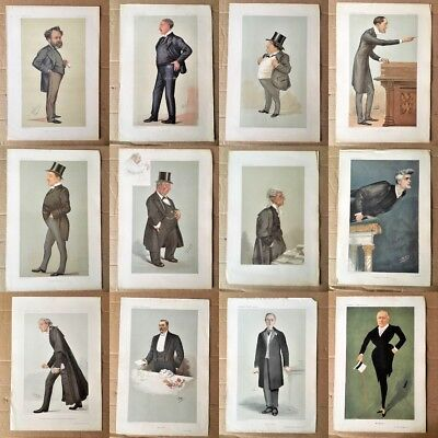 Antique Prints - Vanity Fair PortraitsCaricature by Spy and Others - You Choose