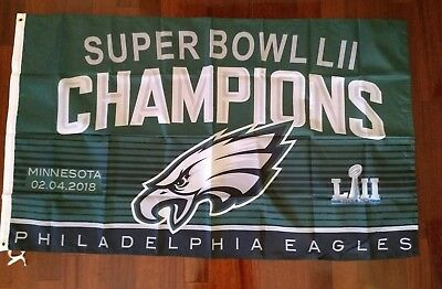 Philadelphia Eagles 3x5 Super Bowl Champions Flag-Free shipping within the US