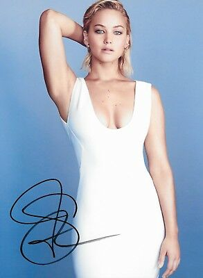 JENNIFER LAWRENCE AUTOGRAPHED SIGNED PHOTO COA THE HUNGER GAMES X-MEN ACADEMY